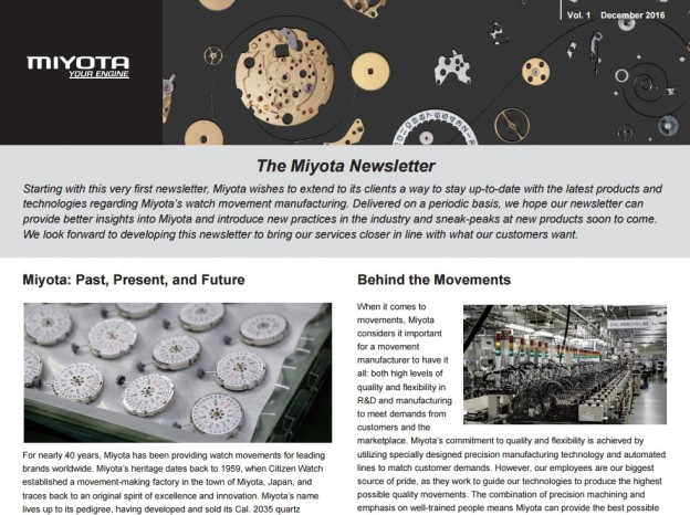 The MIYOTA Newsletter